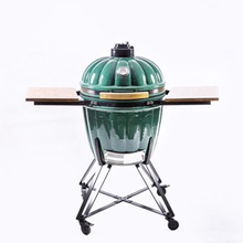 Green outdoor 22inch ceramic kamado bbq grill MCD-2200GP
